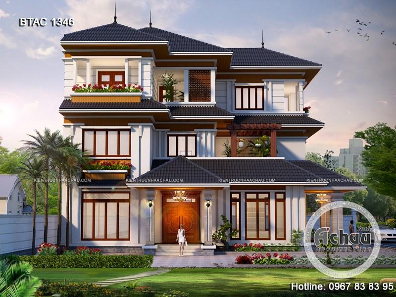 mẫu nhà biệt thự 3 tầng đẹp hiện đại