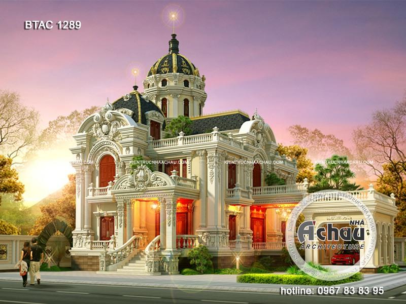 Đón đầu xu hướng 2020 với mẫu thiết kế biệt thự lâu đài cổ điển đẹp nhất BTAC 1289
