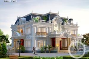 Mẫu biệt thự Pháp 2 tầng đẹp không thể bỏ lỡ