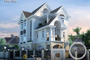 Biệt thự 3 tầng đơn giản mà đẹp - BTAC 1046