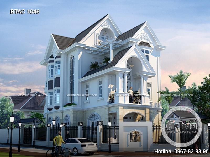 Biệt thự 3 tầng đơn giản mà đẹp – BTAC 1046