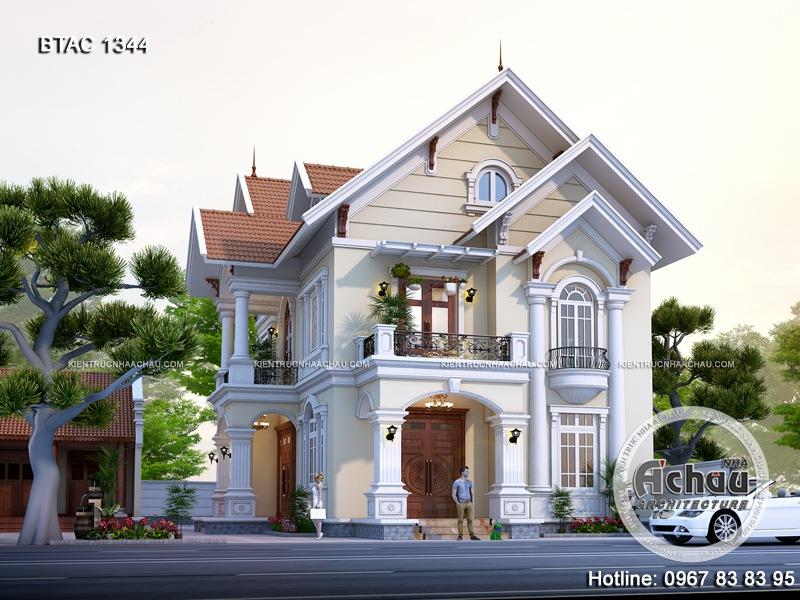 biệt thự 2 tầng tân cổ điển, biệt thự nhà vườn