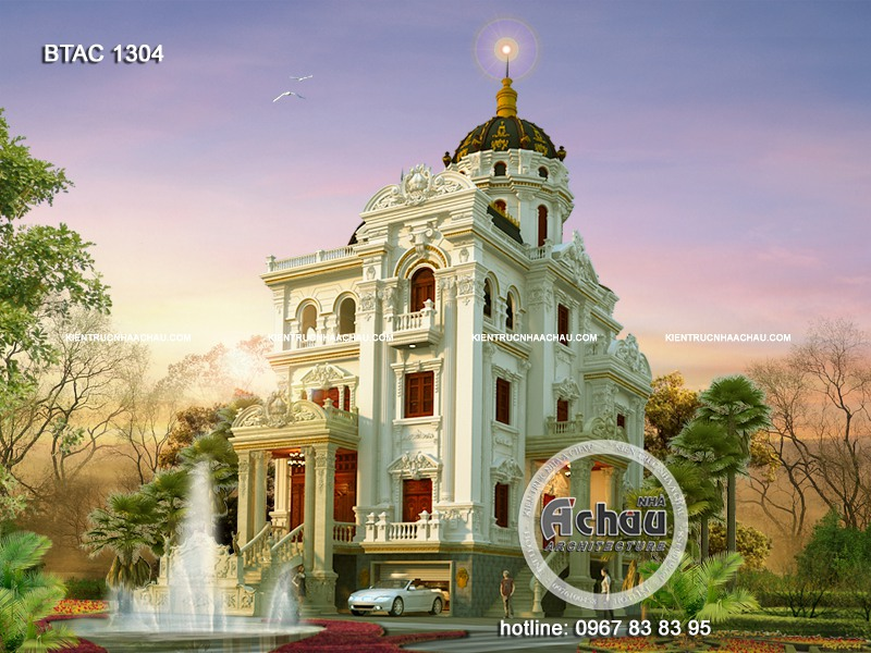 biệt thự lâu đài sang trọng cổ điển
