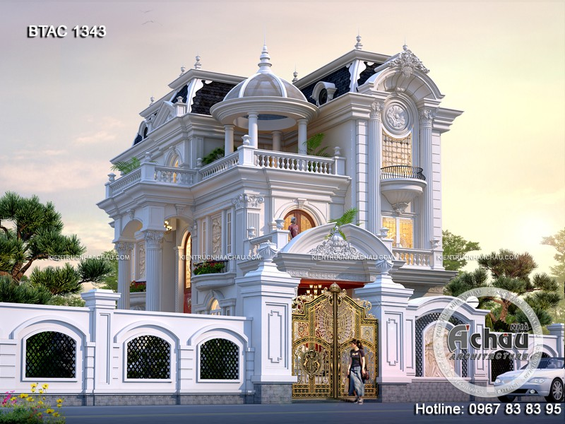 Thiết kế nhà biệt thự liền kề kiểu Pháp