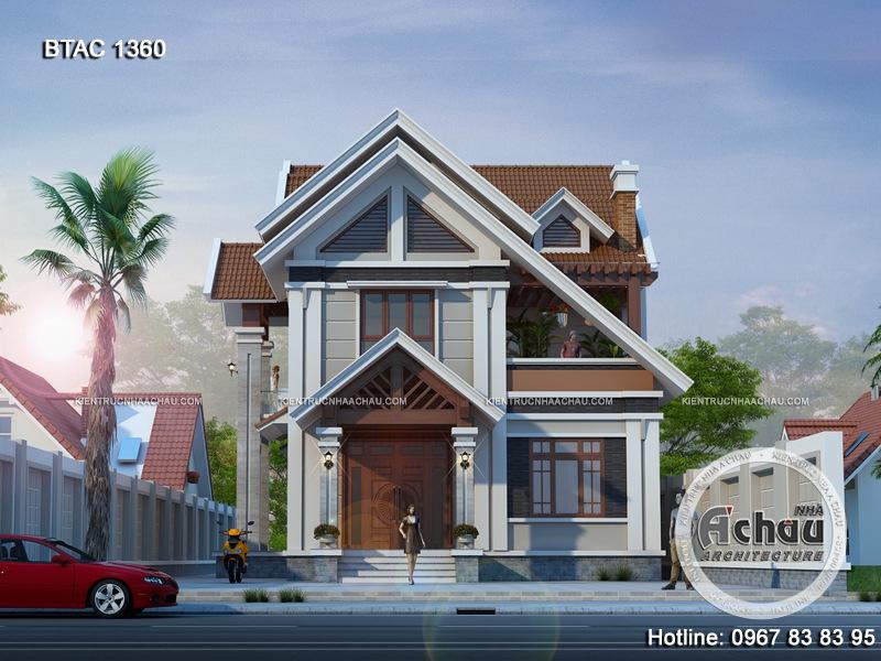 nhà 2 mặt tiền mái thái