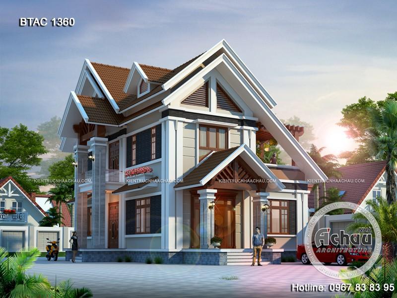 Nhà 2 mặt tiền mái thái  – Xu hướng nổi bật nhất của năm BTAC 1360