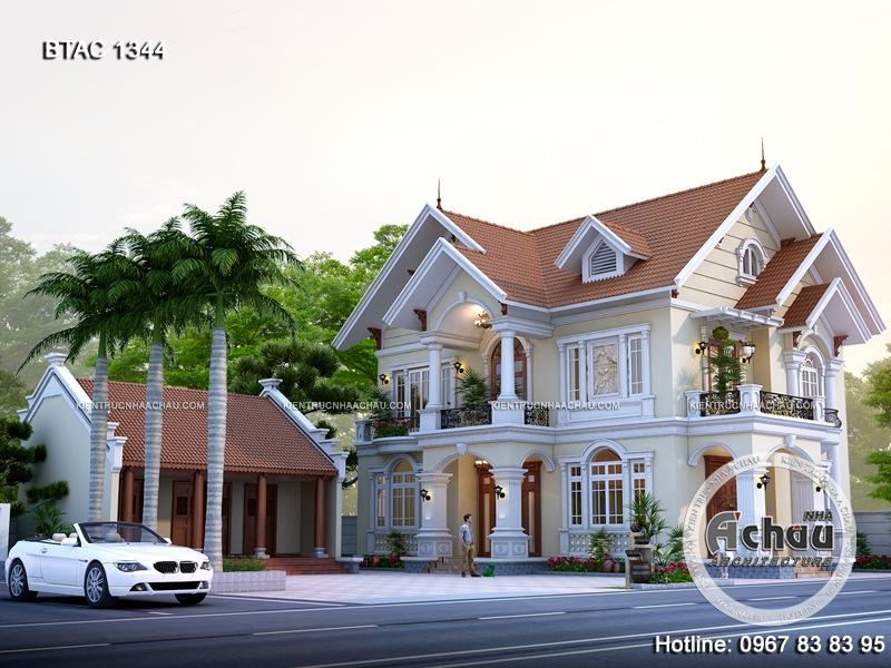 biệt thự 2 tầng tân cổ điển, mẫu biệt thự 2 tầng phong cách tân cổ điển
