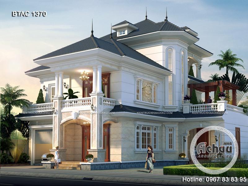 thiết kế mặt tiền nhà 3 tầng