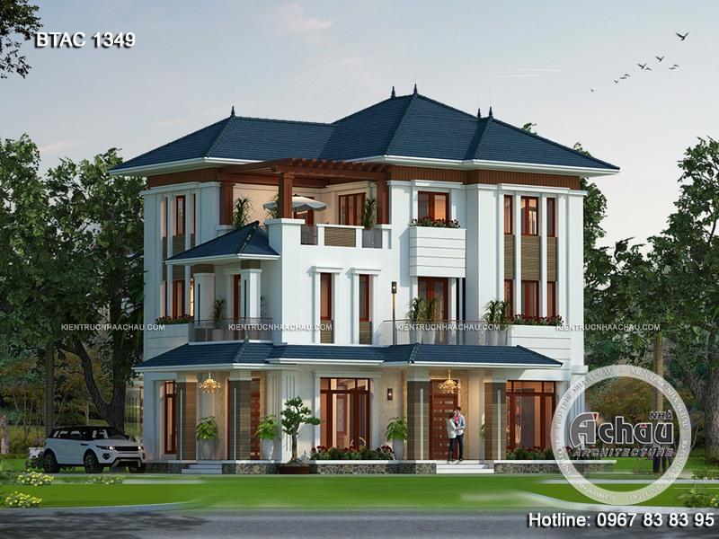 thiết kế biệt thự 3 tầng hiện đại đẹp, thiết kế biệt thự hiện đại