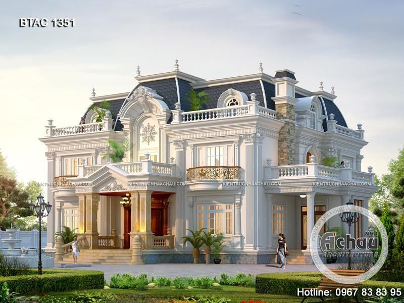 biệt thự lâu đài 2 tầng, biệt thự lâu đài mini, lâu đài 2 tầng, biệt thự lâu đài 2 tầng đẹp tân cổ điển