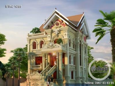 Mẫu nhà cổ điển 3 tầng sang trọng ở Hải Dương - BTAC 1285