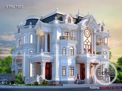 Ngất ngây với mẫu biệt thự tân cổ điển 3 tầng – BTAC 1320