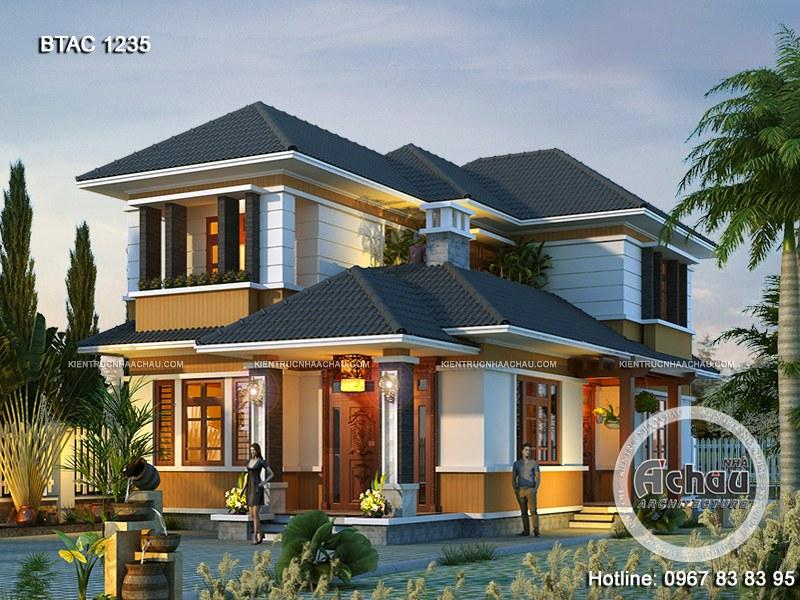 Công ty thiết kế xây dựng nhà Á Châu và các mẫu nhà biệt thự 2 tầng đẹp