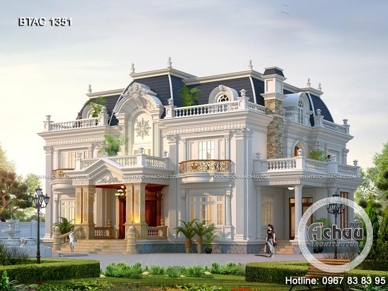 Tổng hợp những mẫu biệt thự tân cổ điển 2 tầng đẹp