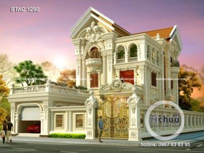 Bản thiết kế biệt thự cổ điển 3 tầng tại Vũng Tàu- BTAC 1290