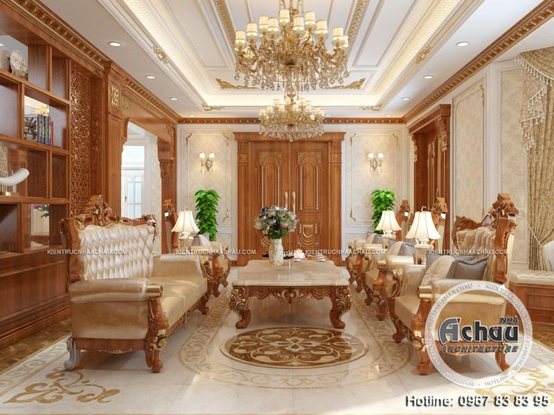 Thiết kế nội thất phòng khách biệt thự, chuyên thiết kế nội thất biệt thự, thiết kế nội thất biệt thự sang trọng