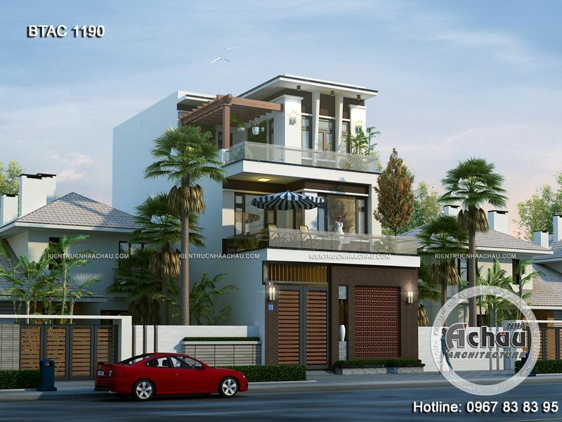Lưu ý xây nhà phố 3 tầng hiện đại, đẹp và sang trọng – BTAC 1190