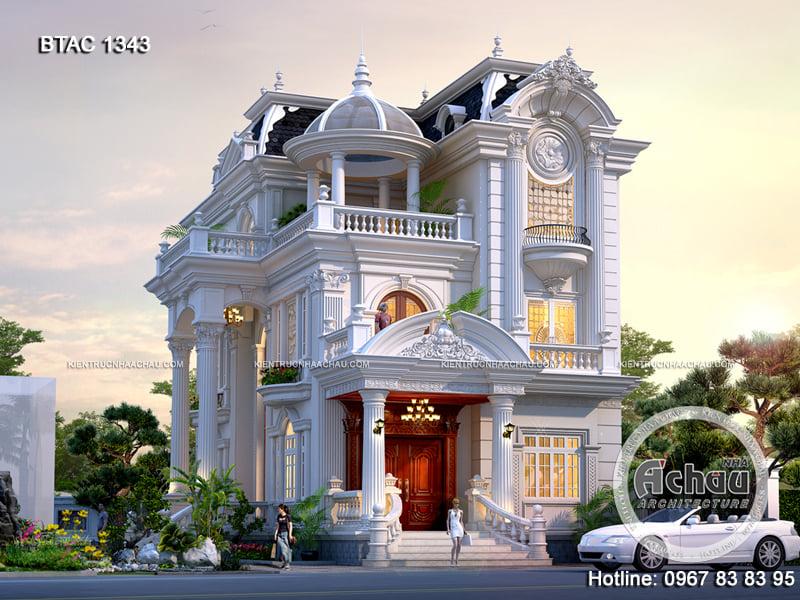 Thiết kế mặt tiền nhà phố tân cổ điển