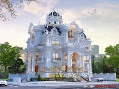 Hút hồn với vẻ đẹp sang trọng của mẫu thiết kế biệt thự tại Khánh Hòa - BTAC 1405