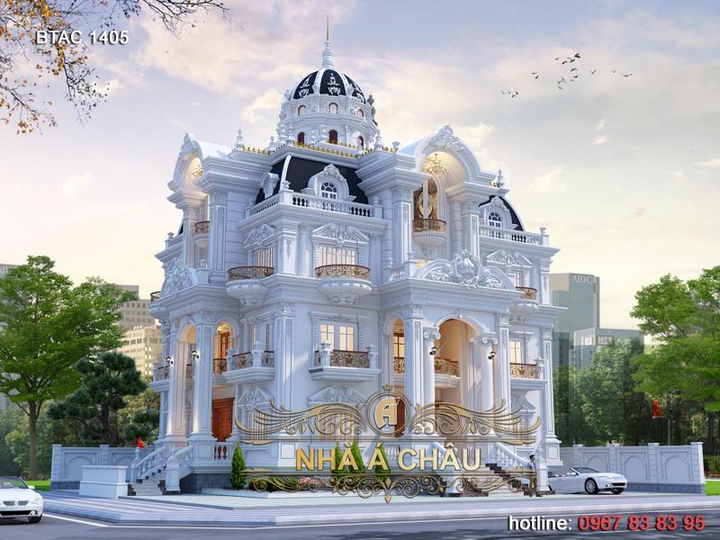 Hút hồn với vẻ đẹp sang trọng của mẫu thiết kế biệt thự tại Khánh Hòa – BTAC 1405