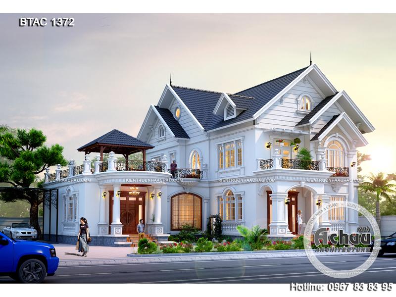 thiết kế biệt thự 2 tầng đẹp