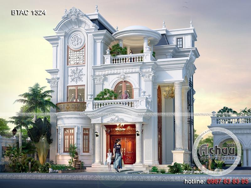 Mẫu biệt thự đẹp tại Hà Nam BTAC 1324