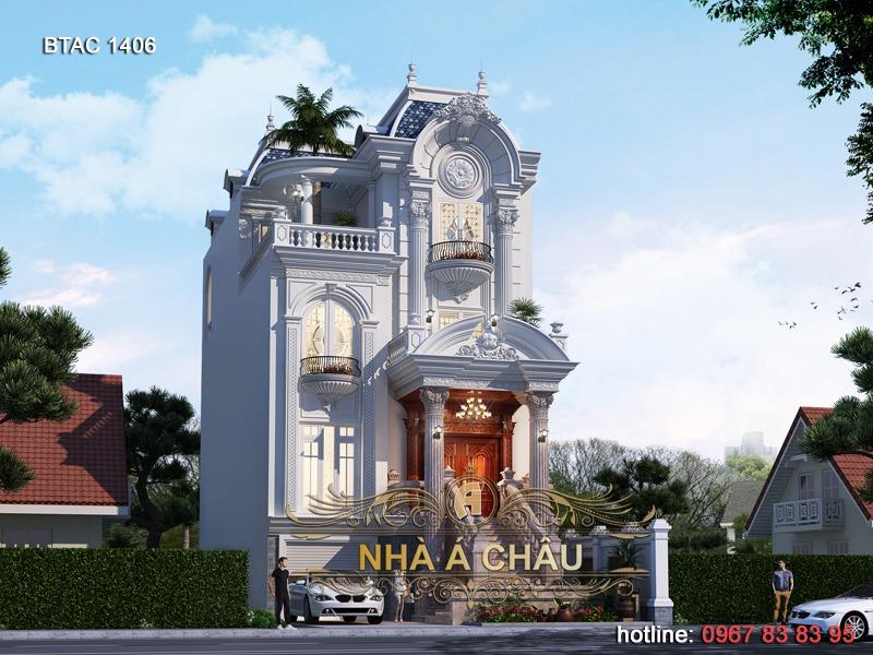 Thiết kế biệt thự tại Ninh Bình mặt tiền 8m – BTAC 1406