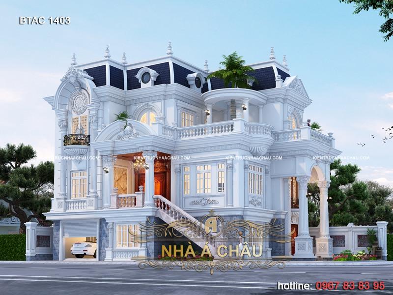 Ngắm nhìn vẻ đẹp của mẫu biệt thự 3 tầng kiểu Pháp đẹp đến nao lòng