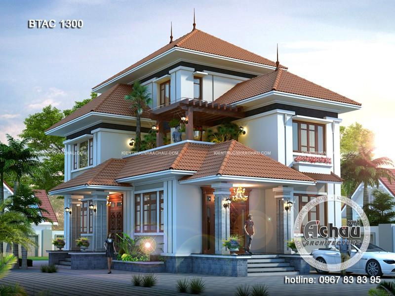 mặt tiền nhà đẹp, bản vẽ thiết kế biệt thự nhà vườn hiện đại