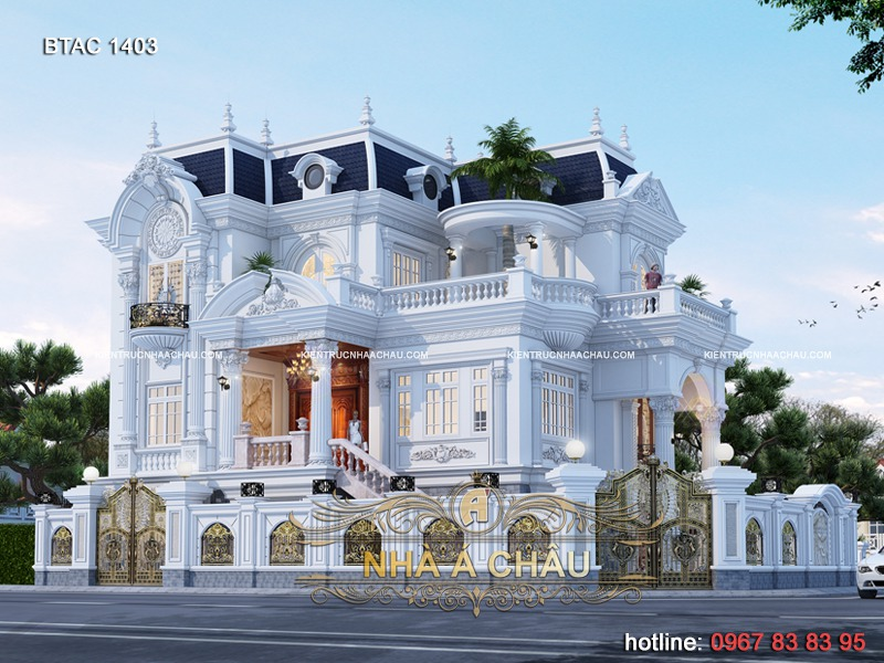 thiết kế biệt thự 3 tầng đẹp 2020- 1403