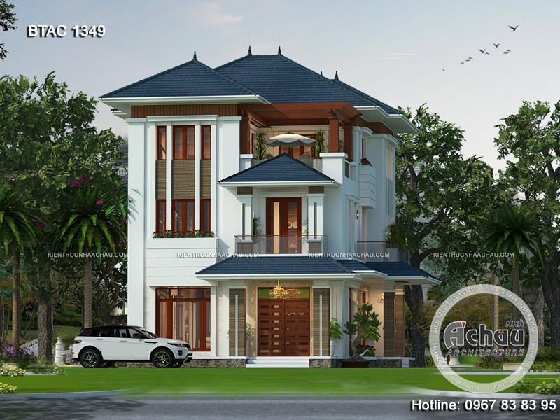 Mẫu biệt thự hiện đại đẹp với thiết kế đầy ấn tượng