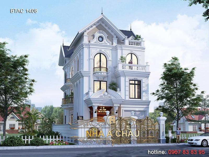 các mẫu nhà đẹp tân cổ điển 4 tầng