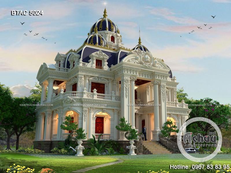 mẫu biệt thự lâu đài 3 tầng đẹp