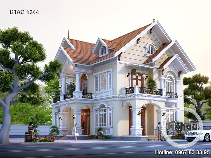 biệt thự mái thái 2 tầng mái Thái
