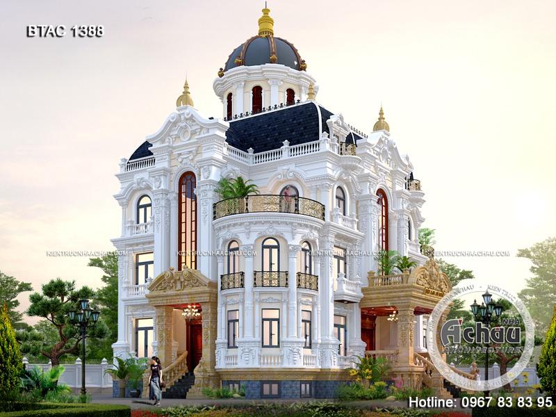 mẫu thiết kế lâu đài đẹp, thiết kế lâu đài kiểu pháp