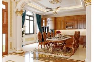thiết kế bếp biệt thự 1344