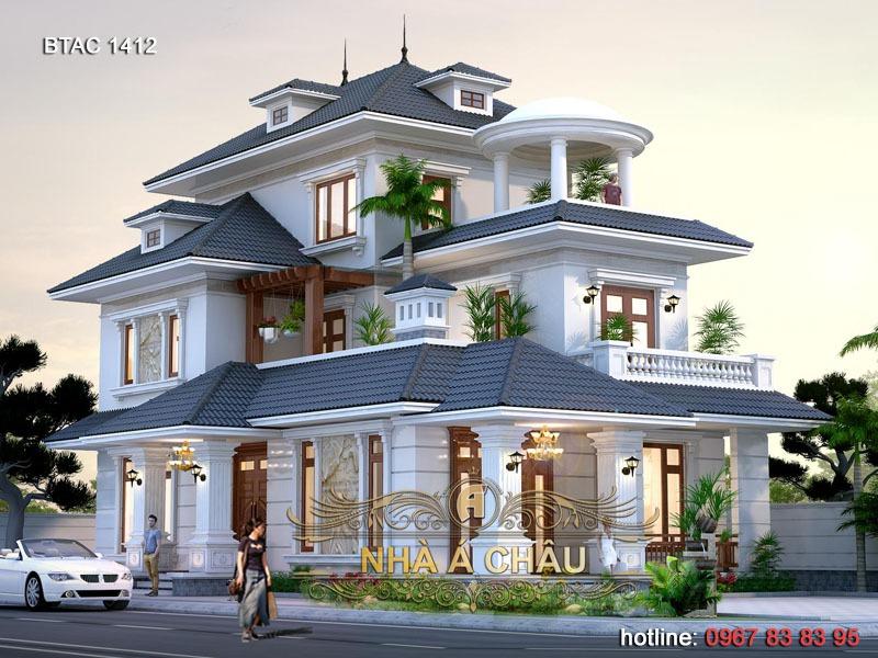 mẫu thiết kế biệt thự 3 tầng Hải Dương 1412