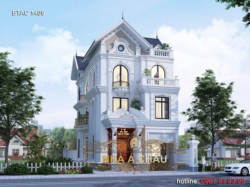 Sang trọng và đẳng cấp cùng vẻ đẹp của mẫu nhà phố tân cổ điển 4 tầng