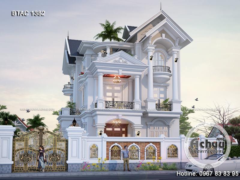Biệt thự 3 tầng đẹp – Thiết kế nhà đẹp Á Châu