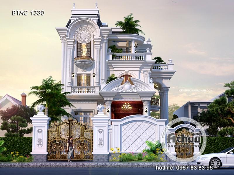 mẫu nhà biệt thự 3 tầng, mẫu nhà biệt thự tân cổ điển 2020 đẹp