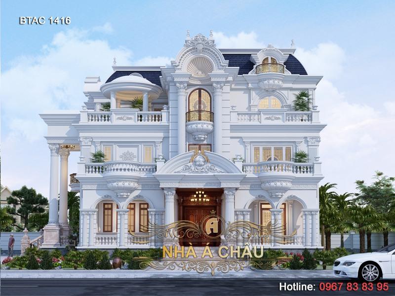 mẫu thiết kế nhà biệt thự đẹp 1416