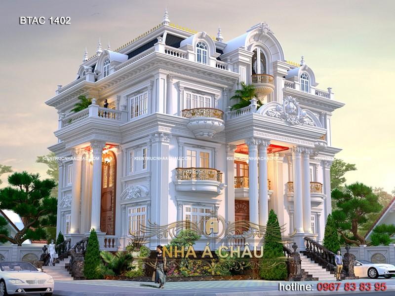 mẫu thiết kế biệt thự 2 tầng đẹp, mẫu thiết kế biệt thự 3 tầng đẹp