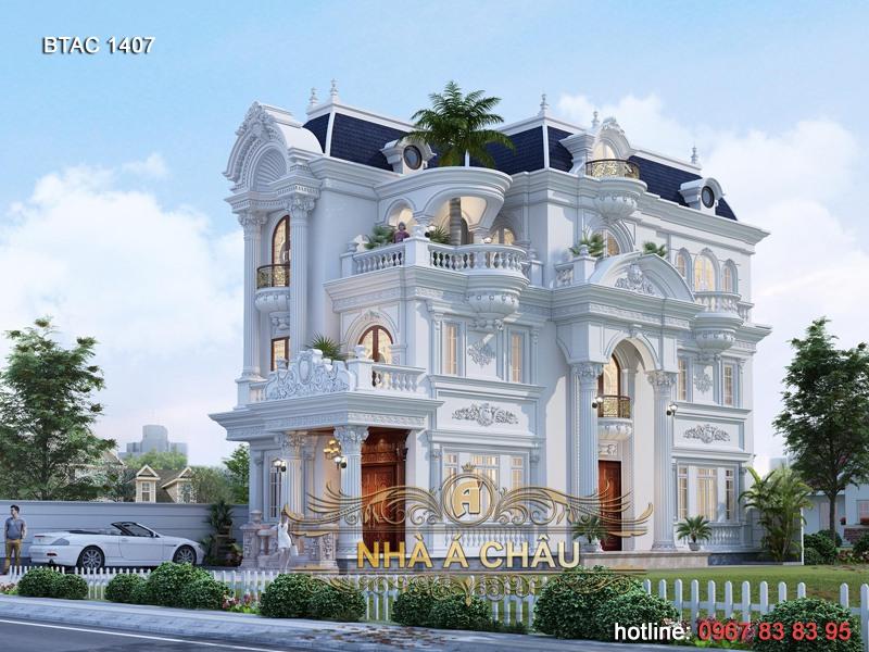 thiết kế nhà tân cổ điển đẹp 1407