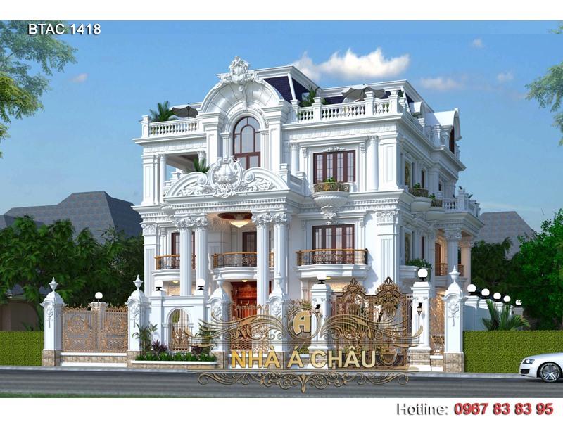 thiết kế biệt thự 3 tầng đẹp ở Đồng Nai
