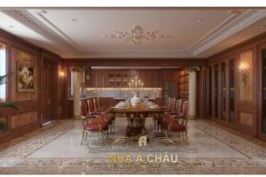 thiết kế nội thất biệt thự- phòng ăn