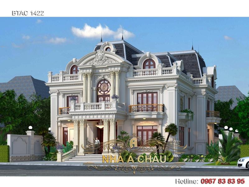 biet thu tan co dien dep 2020, thiết kế biệt thự tại hà nội, thiết kế biệt thự đẹp tại hà nội