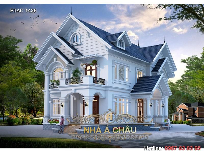 Mẫu biệt thự 2 tầng đẹp 2021 bao người yêu thích – BTAC 1426