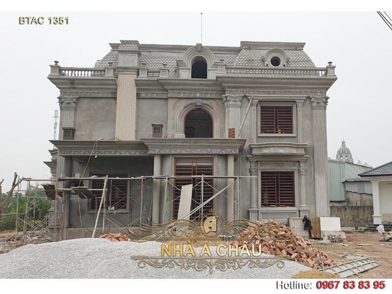 mẫu biệt thự đang thi công 1351