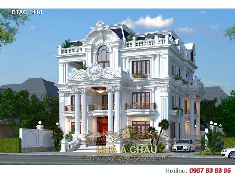 mẫu thiết kế nhà biệt thự 2020 đẹp sang trọng