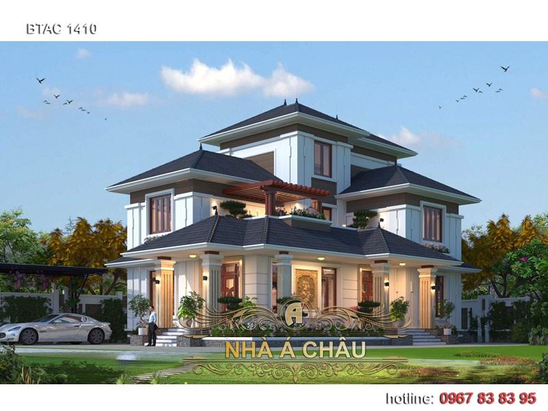 nhà biệt thự 2 tầng đẹp mới 2020